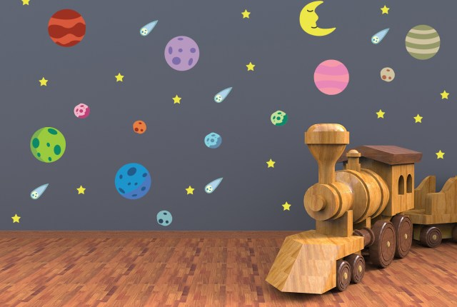 Starlight baby nursery wallpaper