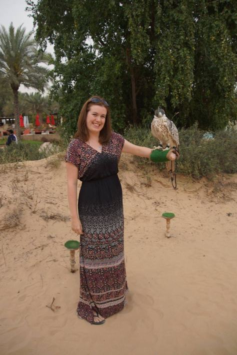 Falcon at Bab al Shams - what to wear in Doha