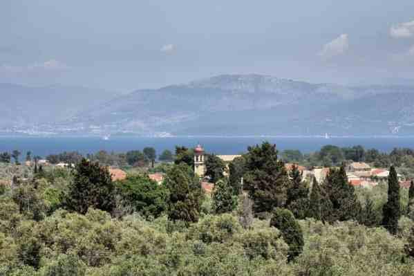Corfu-Trail - km 23 - Blick in RichtungFestland