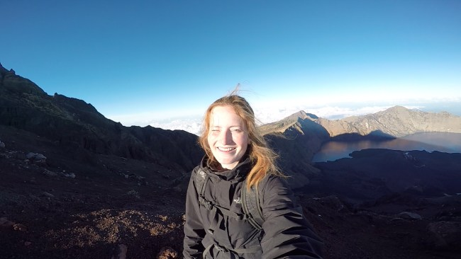 On Top of Mount Rinjani