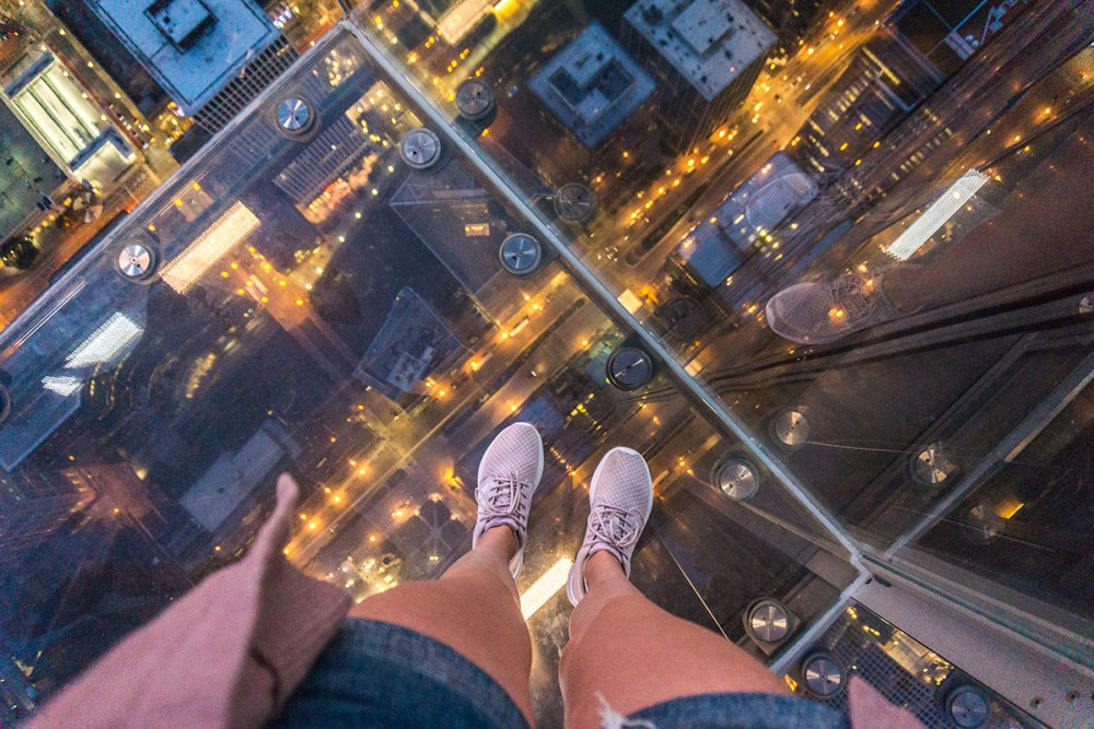 One of the best things to do in Chicago is visiting the Skydeck!