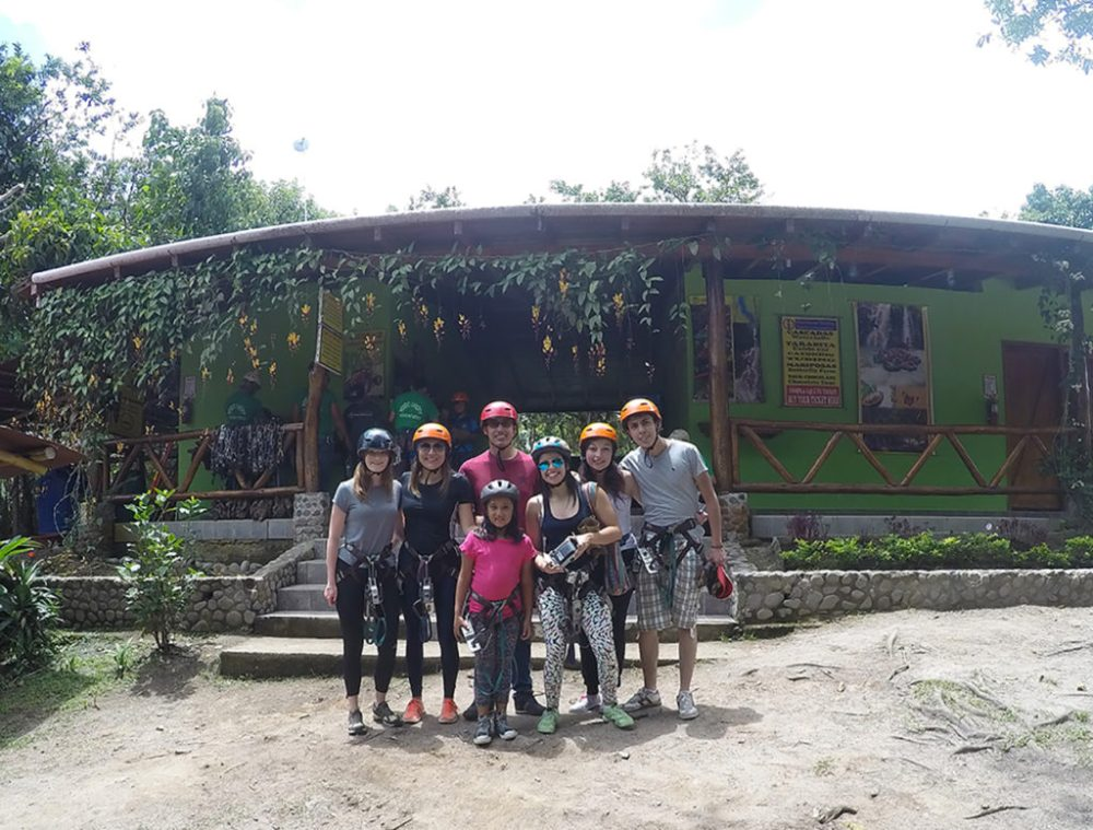 Zip lining in Mindo, the Cloud Forest