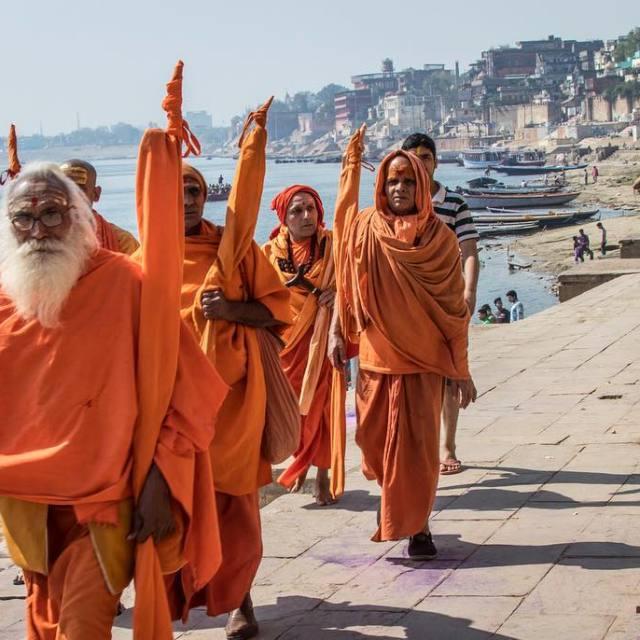 Monks by the Ganga  Varanasi India   hellip