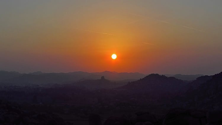 Sunrise at Hampi, Karnataka in India