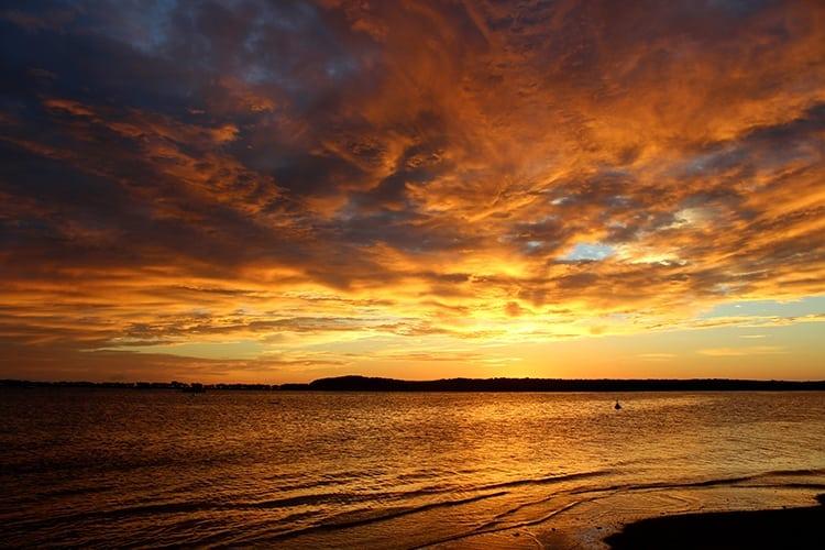 Sunrise in Lowe Isles Australia
