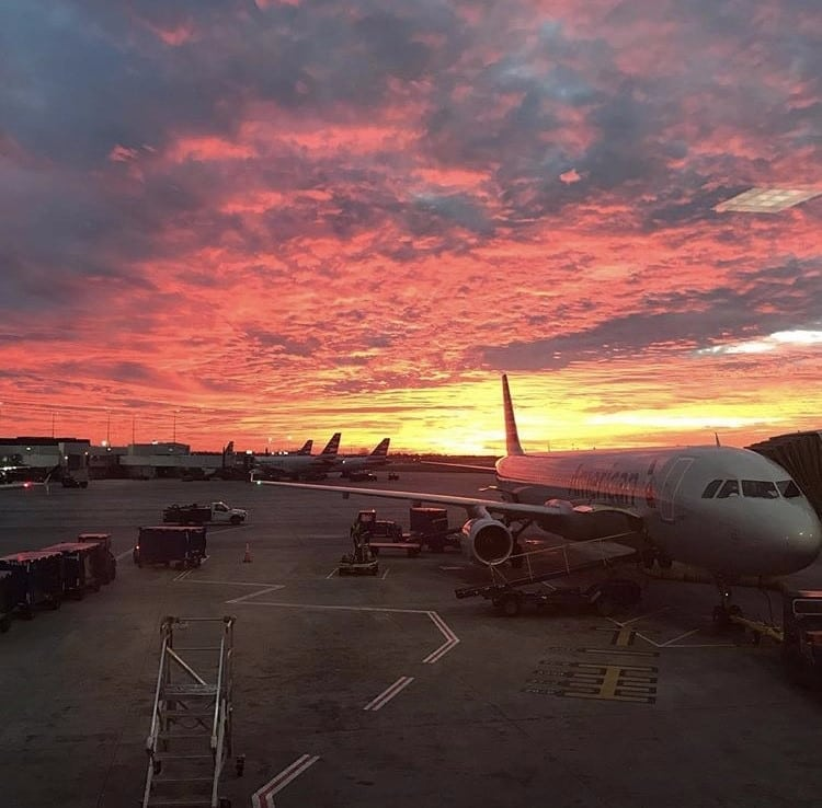 Sunrise at Kansas Airport in Missouri