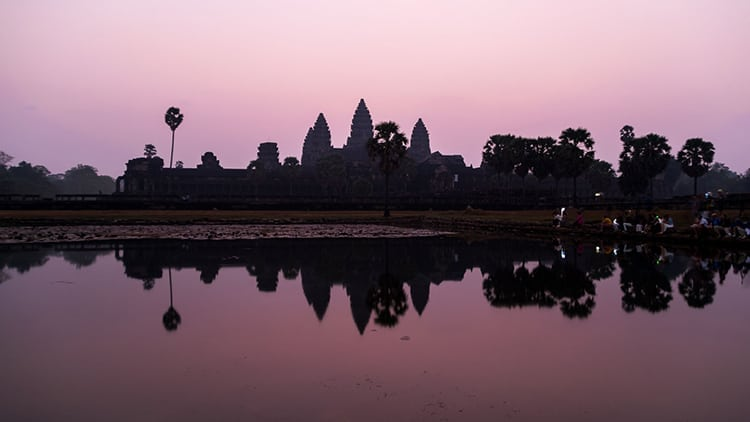 Sunrise at Ankor Wat in Cambodia