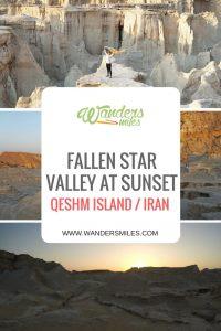 Sunset at Fallen Star Valley on Qeshm island, Iran