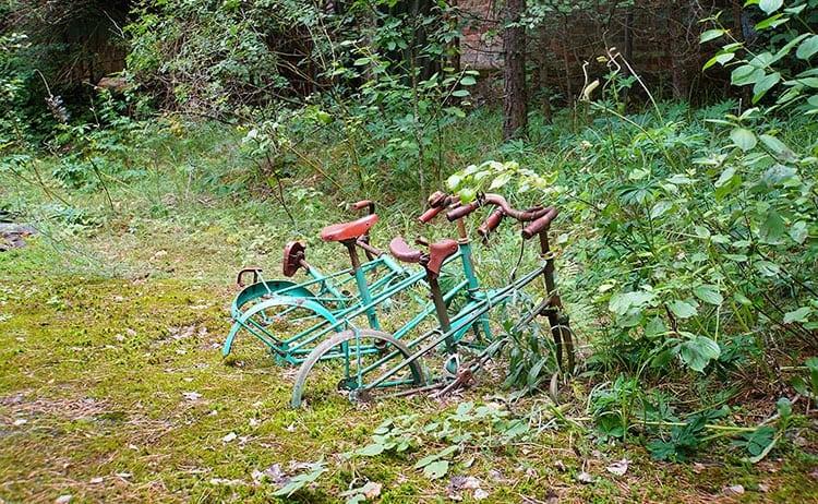 abandoned bikes at Chernobyl