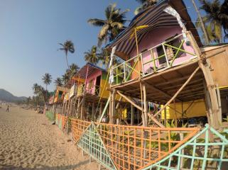 beach huts at Palolem
