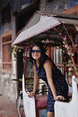 cute rickshaw in georgetown