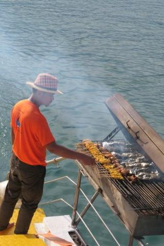 BBQ on cruise tropical charters