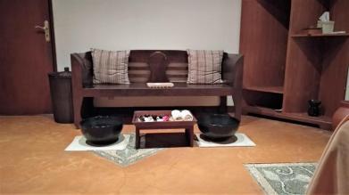 Massage rooms were cozy too