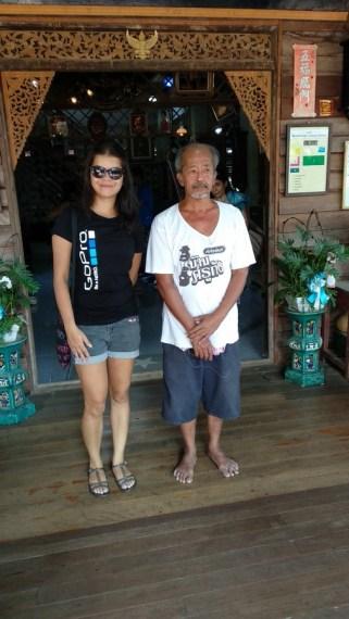 With Mr Kang