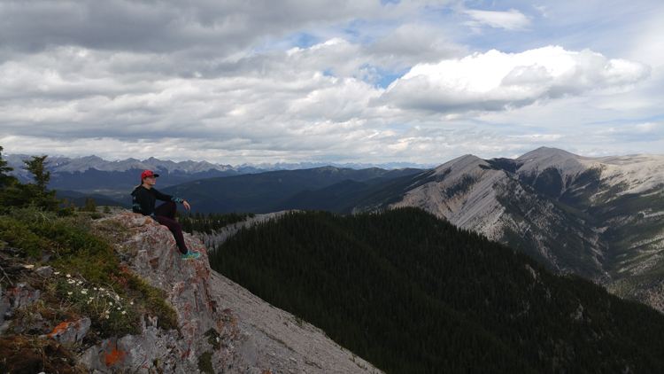An image of the view from the top of Prairie Mountain n Kananaskis, Alberta
