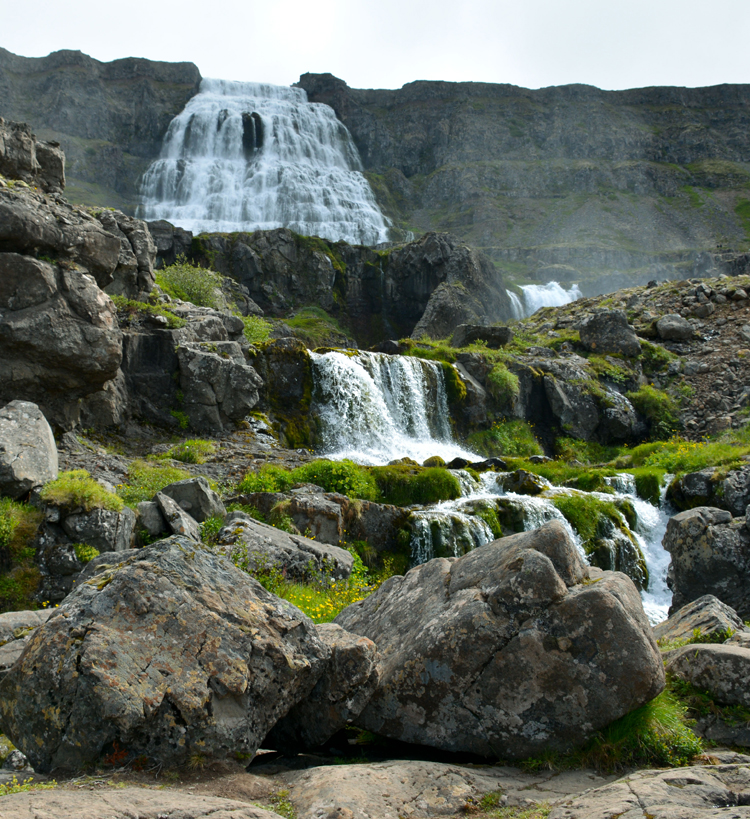 Image of Dynjandi (or Fjallfoss) waterfall in Iceland