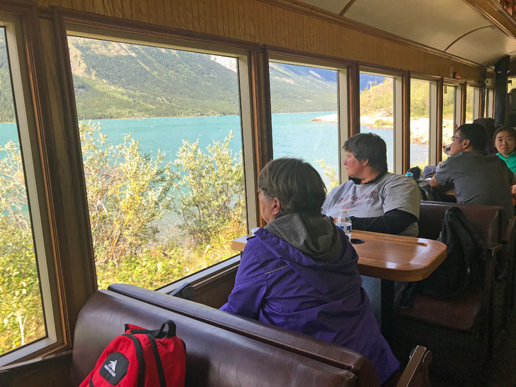 An image of the views from the White Pass Railroad