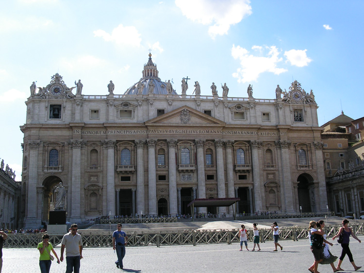 An image of St. Peter's Basilica in Rome, Italy