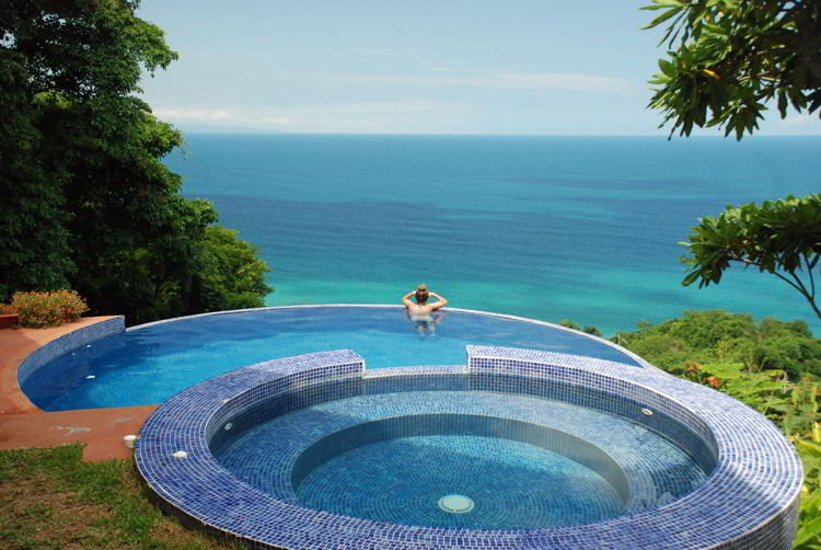 An image of the infinity pool at Anamaya Resort in Costa Rica - yoga retreat Costa Rica