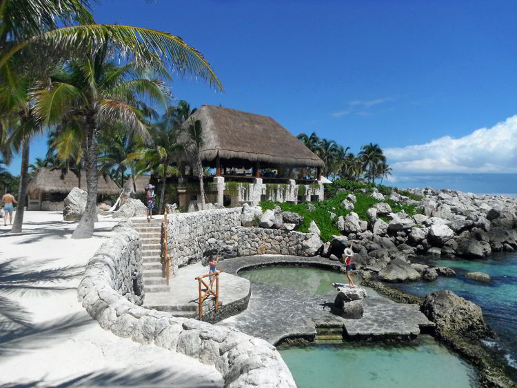 An image of the pools at Occidental Xcaret resort in Riviera Maya, Mexico - all inclusive family resorts