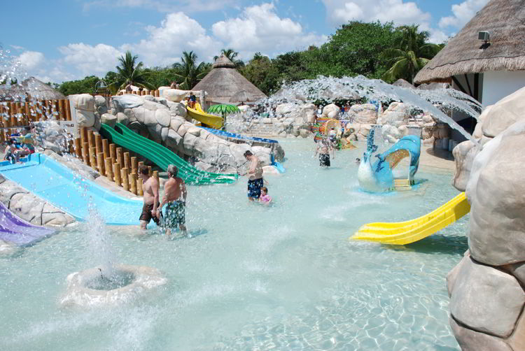 An image of the water park at the Sandos Caracol Eco Resort in Riviera Maya Mexico - All inclusive family resorts