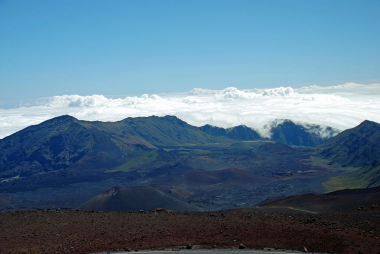 An image of the crater in Haleakala National Park in Maui, Hawaii - Hiking Maui