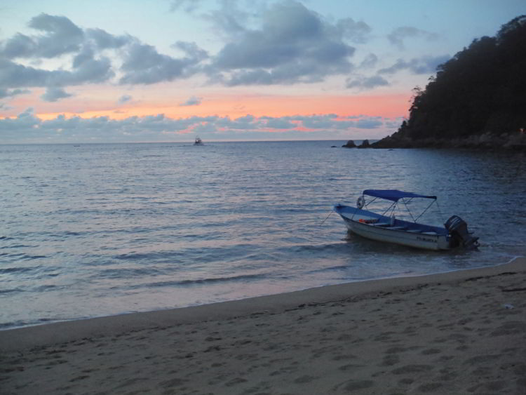 An image of sunset on Yelapa Beach in Jalisco, Mexico