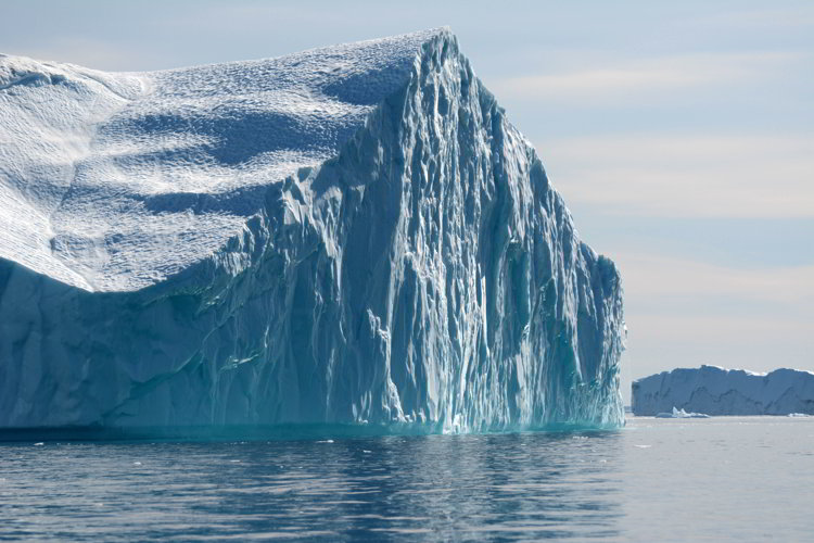 An image of a massive iceberg near Ilulissat, Greenland