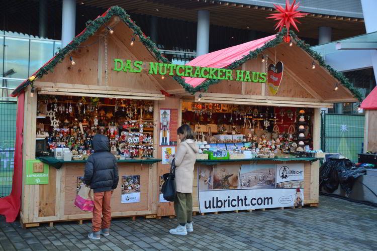 An image of a nutcracker stand at the Vancouver Christmas Market in Vancouver, BC Canada - Vancouver Christmas Lights