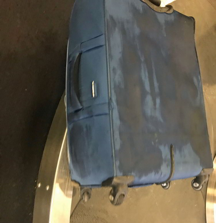An image of a wet bag - Swoop Airlines review
