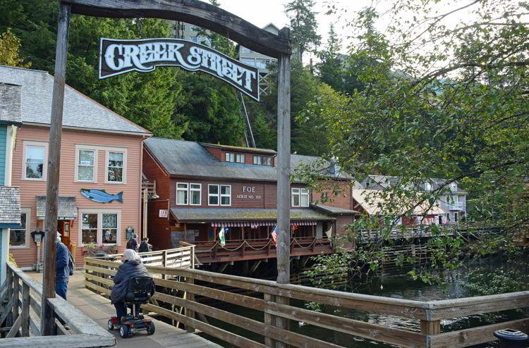 An image of Creek Street in Ketchikan, Alaska - Things to do in Ketchikan