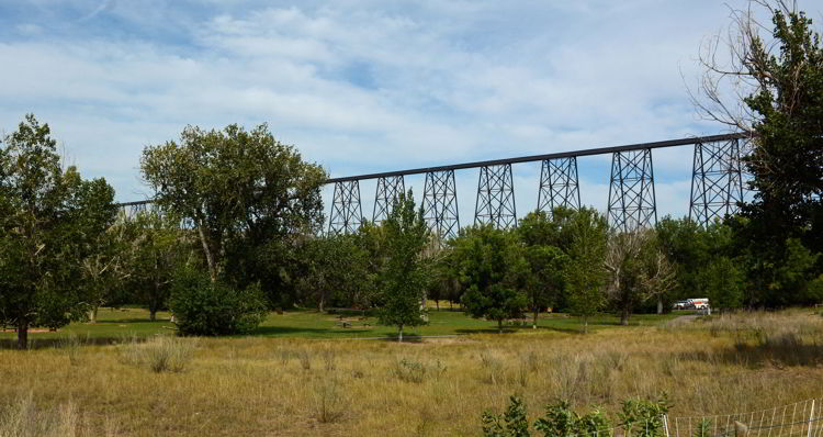 An image of the High Level Bridge or Lethbridge Viaduct as it is otherwise known.