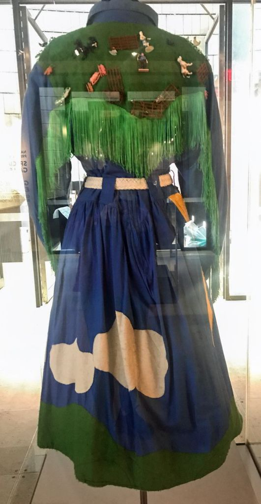 An image of a dress worn by KD Lang as seen at the National Music Centre in Calgary, Alberta, Canada.