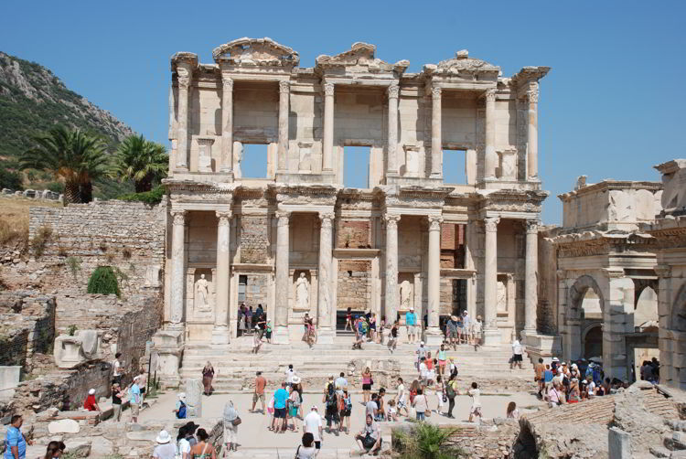 An image of the library of Celsus in Ephesus, Turkey - Ephesus tour