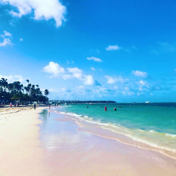 An image of Bavaro Beach near the Lopesan Costa Bavaro Resort in Punta Cana, Dominican Republic.