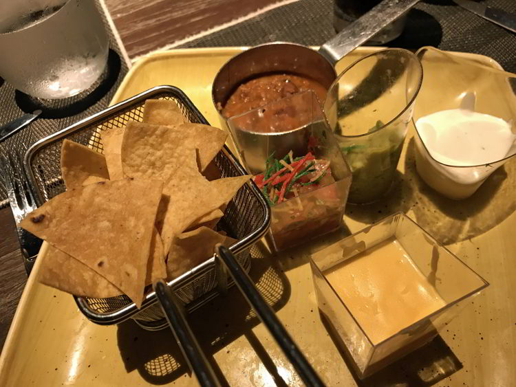 An image of an appetizer plate at the Mexican restaurant at the Lopesan Costa Bavaro in Punta Cana, Dominican Republic