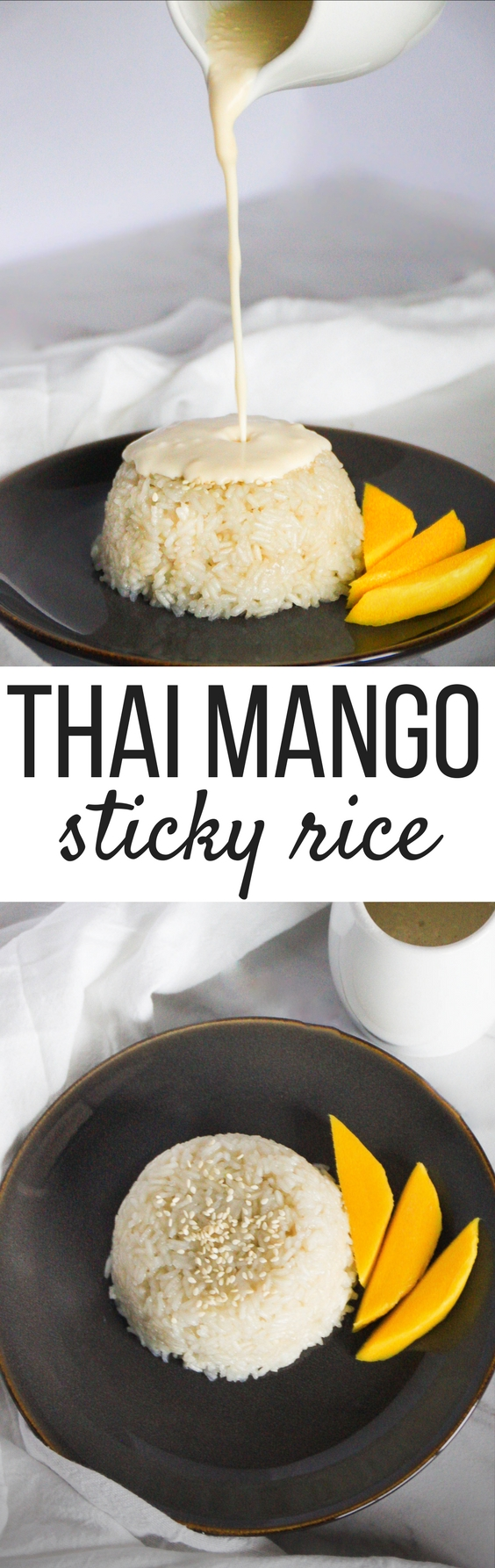Thai Mango Sticky Rice only uses four ingredients and it's so easy to make! A simple, yet satisfying treat to whip up whenever you are feeling in the mood for something sweet and delectable.