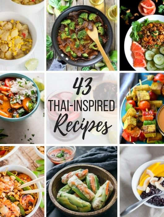 Bring a taste of Thailand into your home with this Thai-inspired recipe roundup of 43 entrees, sides, desserts, drinks and more!