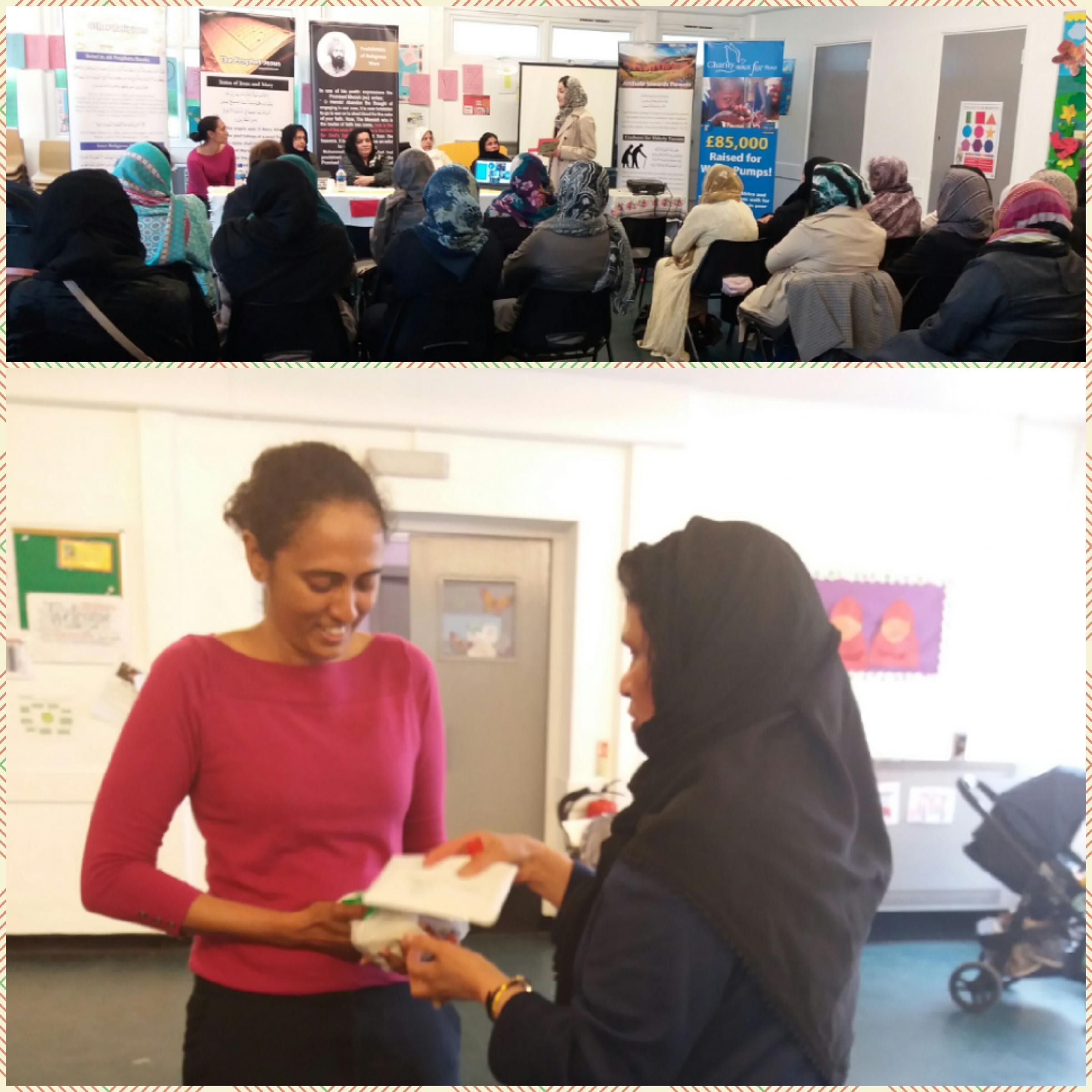 Ahmadiyya Muslim Women's Association raised £450 for Earlsfield food bank.