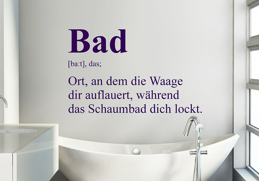Wandtattoo Bad Definition 3 Wandtattoo De