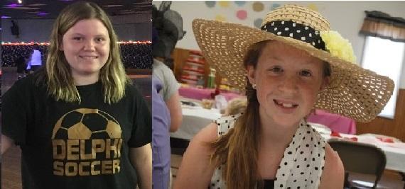 Liberty German (left), Abigail Williams (right) Delphi teens_241172