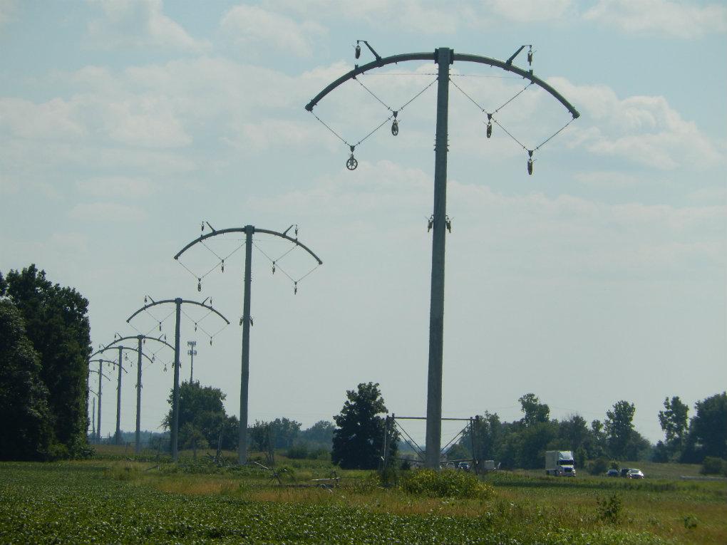 Indiana Michigan Power Bold Transmission towers