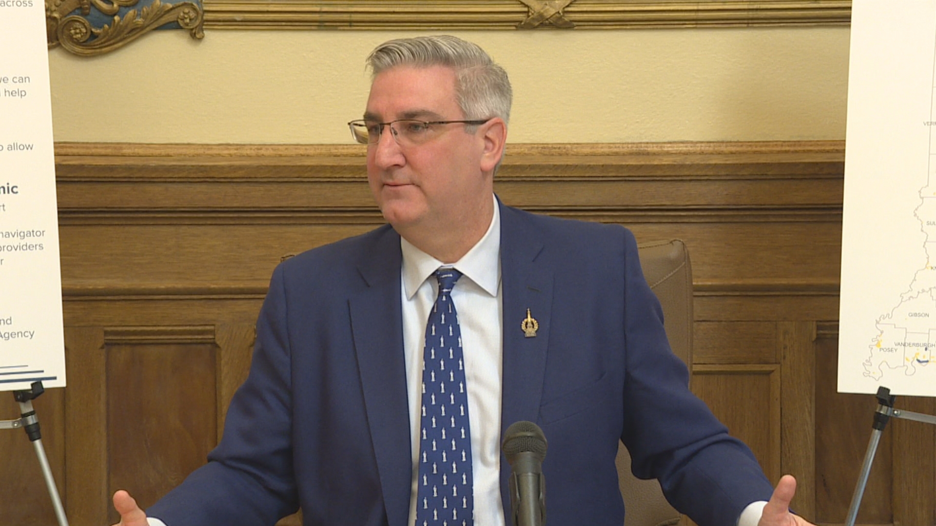 Indiana Gov. Holcomb doubles down on hate crimes bill