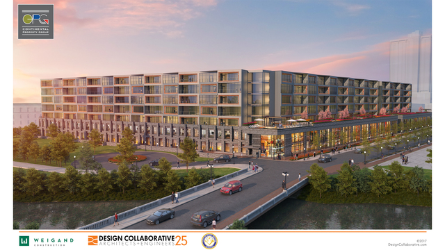 CPG Mixed Use Riverfront Rendering