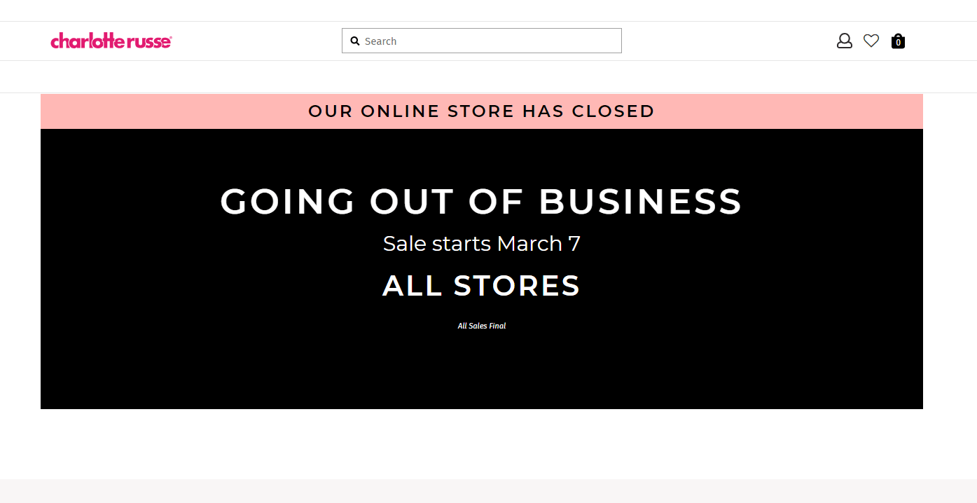 Charlotte Russe going out of business