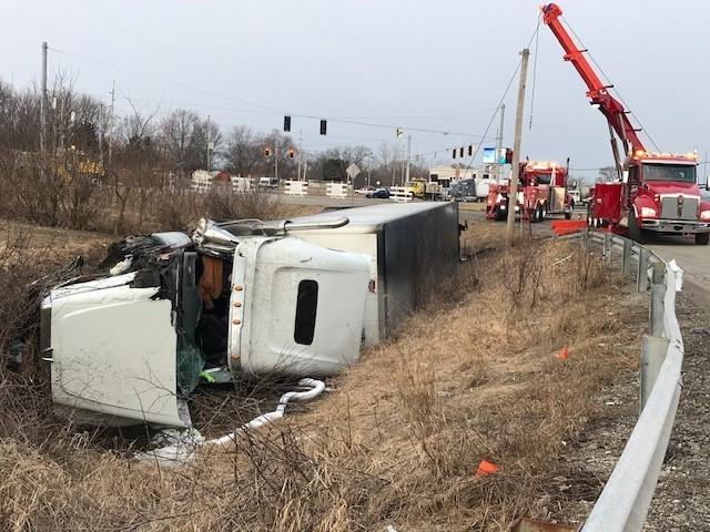 Semi crash US 30 Warsaw