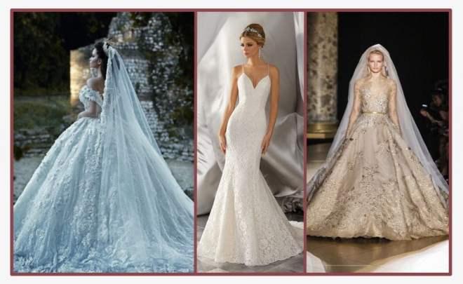Diferença entre os tons de vestidos de noivas