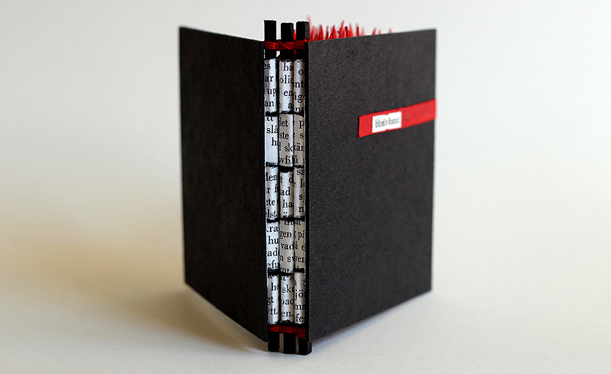 Blodsband, artists book, rygg