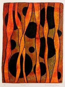 Beyond II, monotypi, blandteknik, 20x26,5 cm. ©Maria Wangi Ibohm