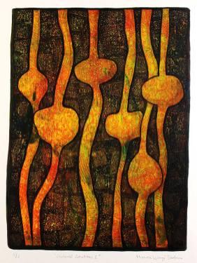 Captured emotions I, monotypi, blandteknik, 20x26,5 cm. ©Maria Wangi Ibohm